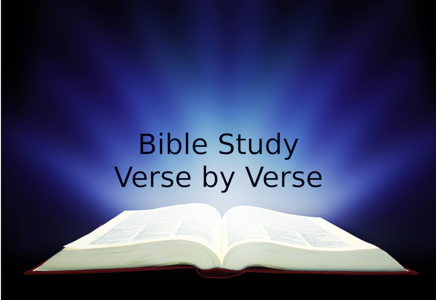 Bible Study Verse by Verse